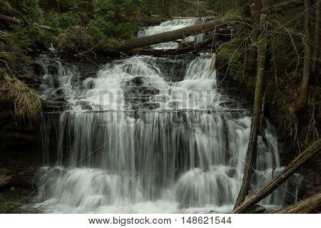 Wagner Falls near Munising in Michigan's Upper Peninsula