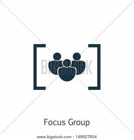 Vector Illustration Of Seo, Marketing And Advertising Icon On Focus Group In Trendy Flat Style. Seo,