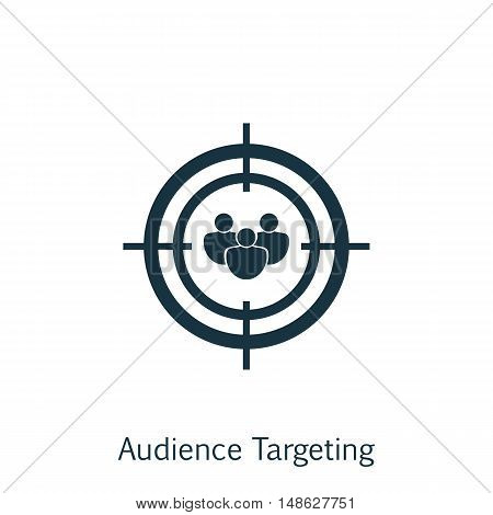 Vector Illustration Of Seo, Marketing And Advertising Icon On Audience Targeting In Trendy Flat Styl