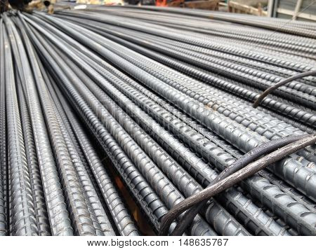 Rebar steel for construction work of building