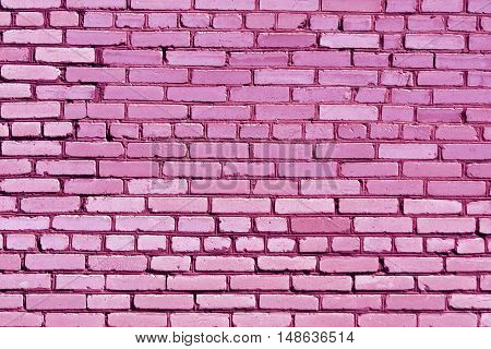 Weathered Pink Brick Wall Texture.
