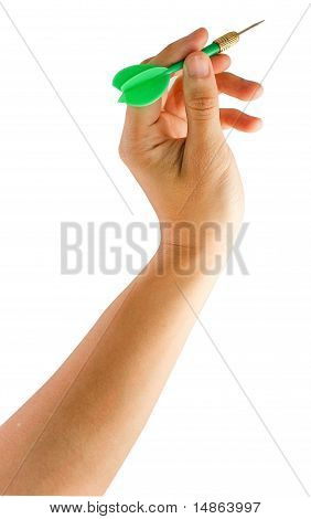 Hand Holding Dart