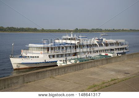 NIZHNY NOVGOROD, RUSSIA - AUGUST 27, 2015: Cruise ship