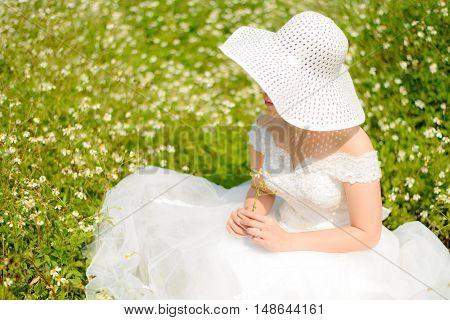 Bride On The Flower Field