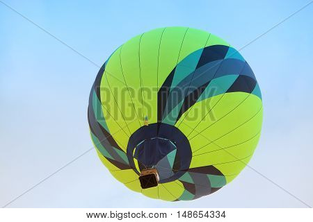 Hot air balloon flying in the sky