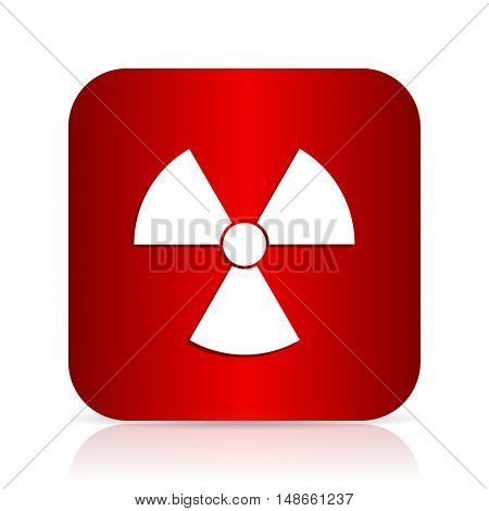 radiation red square modern design icon