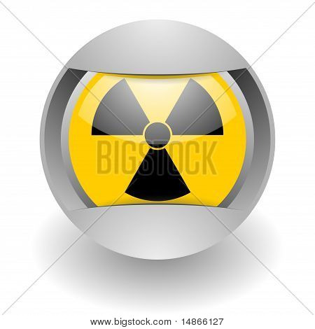 nukleare Stahl gelb glosssy Symbol