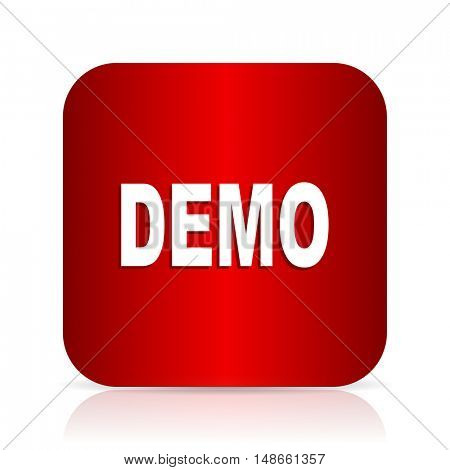 demo red square modern design icon