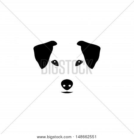 Jack Russell Terrier dog vector illustration. Purebred dog illustration. Sketch of jack russell terrier.