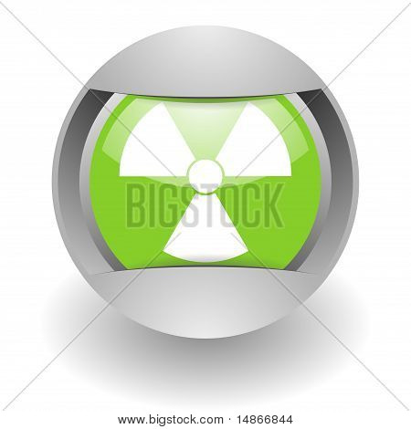nuclear steel green glosssy icon