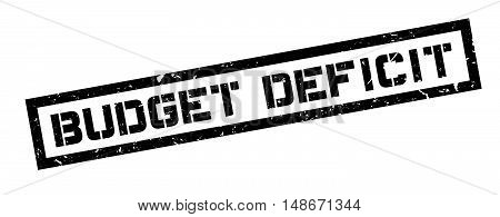 Budget Deficit Rubber Stamp