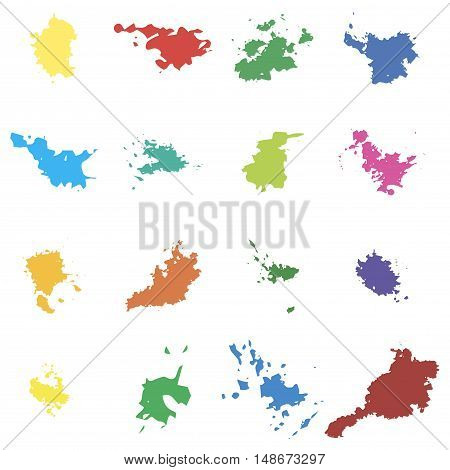 Colored Vector Blots. Seth Blots On A White Background. Design Element