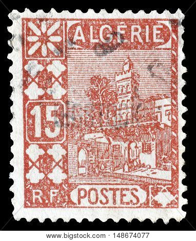 ALGERIA - CIRCA 1926 : Cancelled postage stamps printed by Algeria, that shows Mosque.