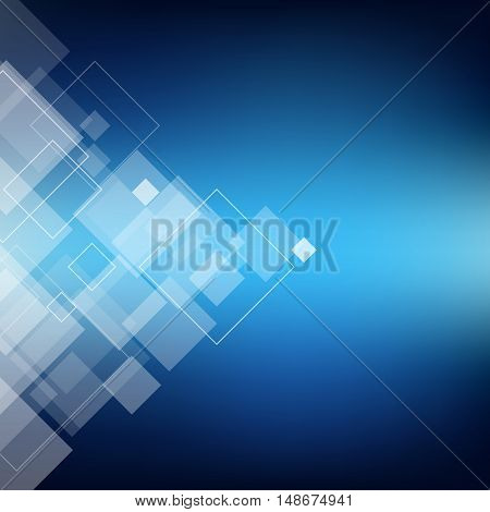 Abstract composition polygonal lozenge construction sky theme square block diamond box surface crystal facet rhombus logo texture business backdrop screen saver EPS10 vector illustration