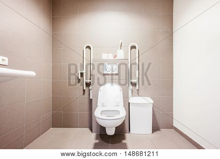 public disabled toilet in an large building