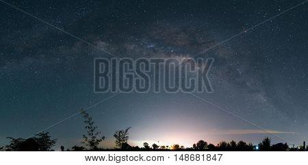 Milky Way in thailand panorama, Milky Way