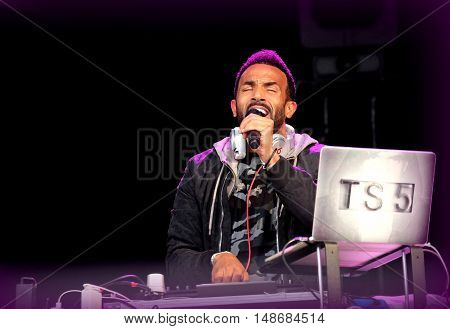 Craig David  performing TS5 at Bestival Festival, September 9th 2016, Newport, Isle of Wight, UK