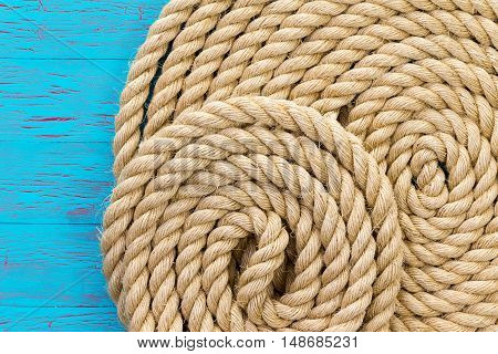 Maritime Theme Background Of Wound Up Rope