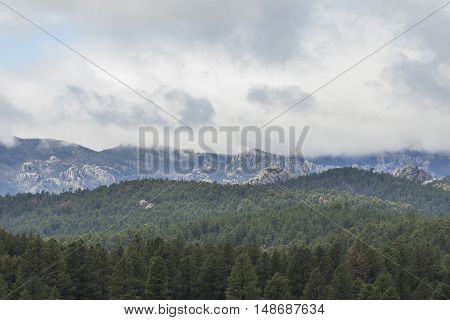 A scenic view of the Black Hills.