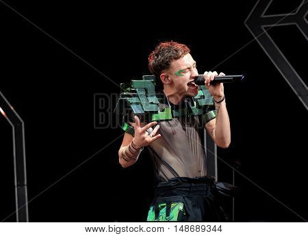 Olly Alexander performing with Years & Years at Bestival Festival, September 9th 2016, Newport,  Isle of Wight, UK