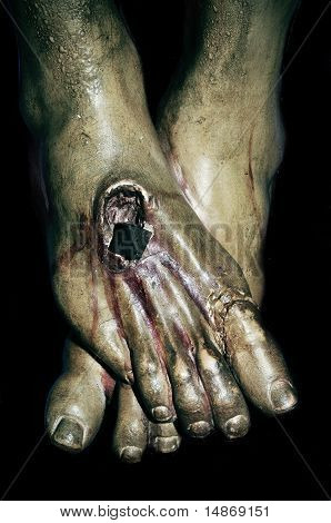 The Feet Of Jesus Christ In The Holy Cross