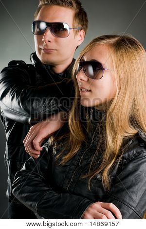 Couple With Leather Jackets