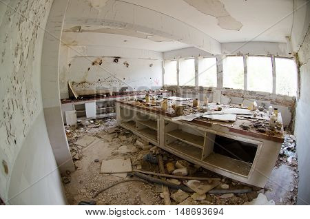 abondoned army chemical lamboratory after earthquake 1999 athens greece