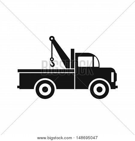 Car towing truck icon in flat style icon in simple style on a white background vector illustration