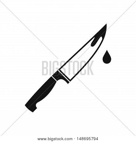 Steel knife icon in simple style on a white background vector illustration