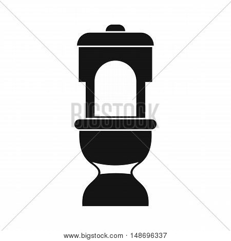 Toilet bowl icon in simple style on a white background vector illustration