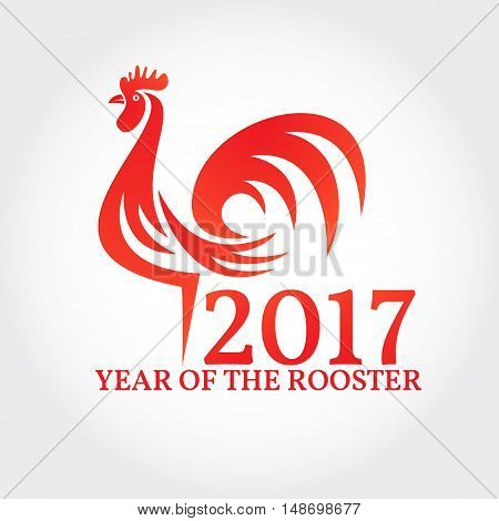 Rooster On White Background.