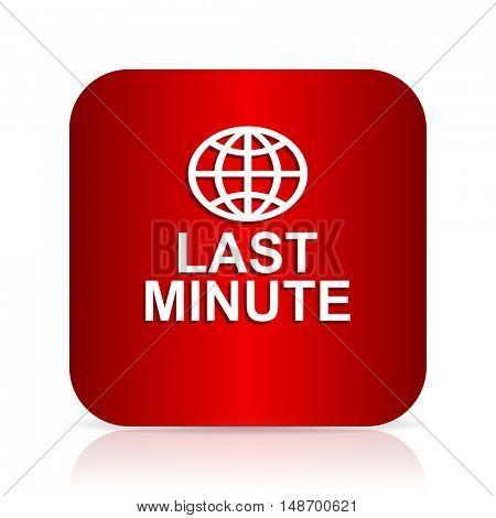 last minute red square modern design icon