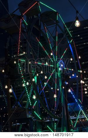 New York NY - September 09 2016: A view of the Ferris Wheel at the Tommy Hilfiger Fall 2016 Fashion Show - Part 2 during New York Fashion Week