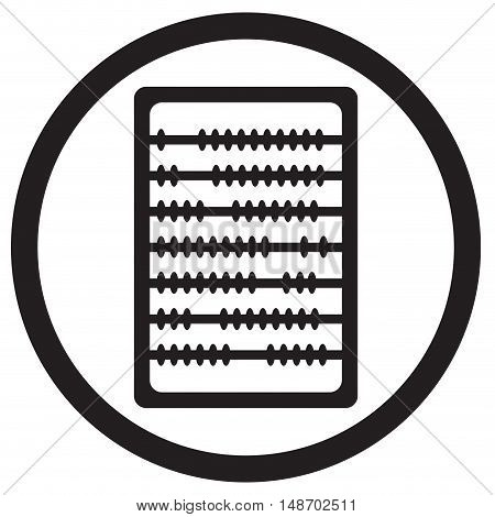 Abacus icon black. Calculator for counting accounting with old abacus. Vector illustration