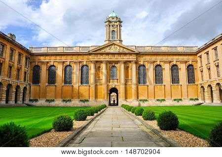 Oxford, UK - September 10, 2011: Inside Oxford university, one of most famous university in the world