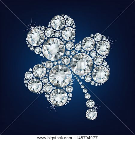 Clover made a lot of diamonds. vector