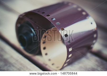 Dusty Old Photographic Roll And Film