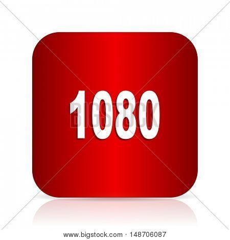 1080 red square modern design icon