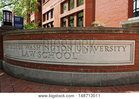 Sign Of The George Washington Univertsity Law School
