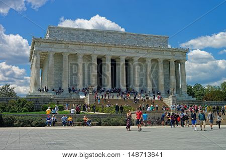 Lincoln Memorial Near The National Mall In Washington Dc