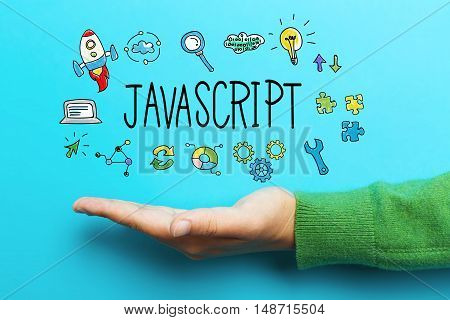 Javascript Concept With Hand