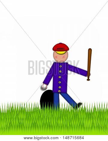 Alphabet Children Baseball Period