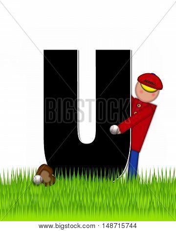 Alphabet Children Baseball U