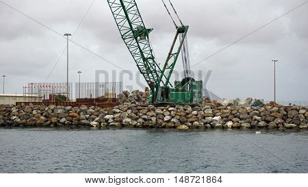 small industry harbor on sal island on sal island
