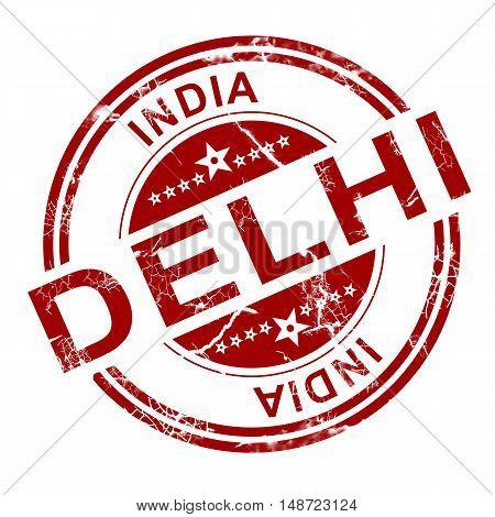 Red Delhi Stamp