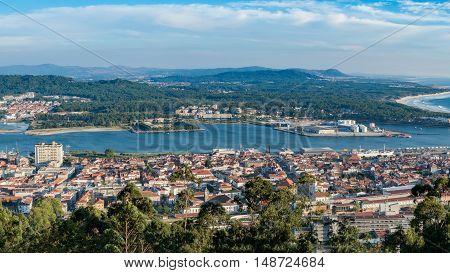 Aerial View On The Center Of Viana Do Castelo