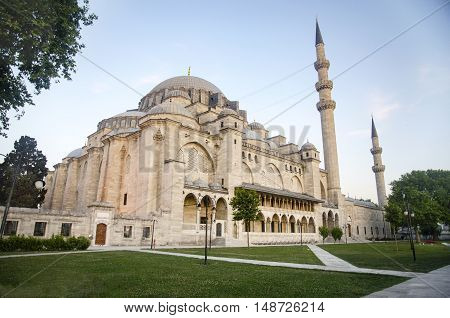 The Suleymaniye Mosque is an Ottoman imperial mosque located on the Third Hill of Istanbul Turkey. It is the largest mosque in the city and one of the best known sights of Istanbul. Suleymaniye Mosque in Istanbul in the district of the same name the large