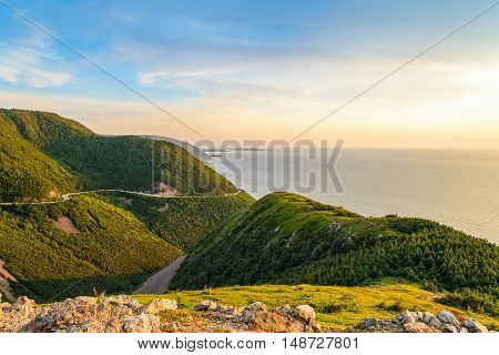 Skyline Trail look-off (French Mountain Cape Breton Nova Scotia Canada)