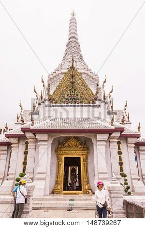 Bangkok Thailand - June 5 2016 : Bangkok city pillar shrine or pillar shrine of Thailand