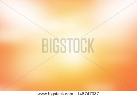 abstract orange background. bokeh abstract light background. Summer background with a magnificent sun burst with lens flare. Hot with space for your message / empty room studio background